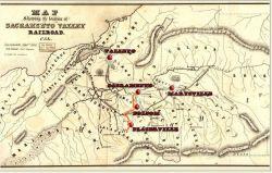 1854 - Tragitto della Sacramento Valley RailRoad, così come è stato progettato da Theodore Judah.