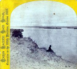 Un passeggero durante l'escursione del 1866 in concomitanza con il raggiungimento del 100° meridiano