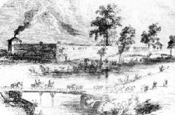 Illustrazione di Fort Sutter