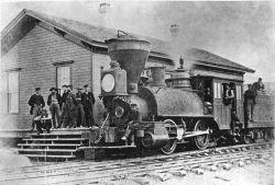 Il primo treno della UP in arrivo a Cheyenne