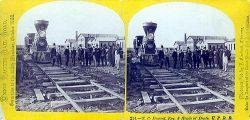 Doc Durant e lo staff della Union Pacific prima della partenza per l'escursione del 1866.