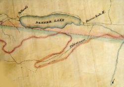 Zona attorno al Lago Donner, ispezionata da Theodore Judah insieme a Daniel Strong